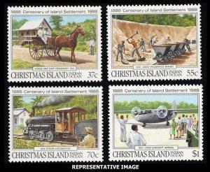 Christmas Island Scott 218-221 Mint never hinged.