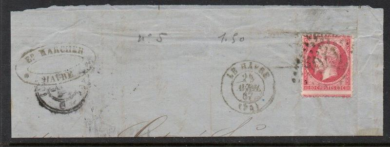 France 1862-71 80c Le Harve CDS OP VFU (28)