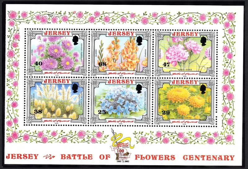 Jersey Centenary of 'Battle of Flowers' Parade Booklet Pane T3 SG#1053a
