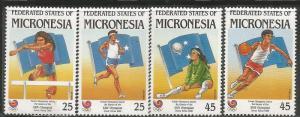 MICRONESIA 63-66, MNH, 1988 SUMMER OLYMPICS, SEOUL