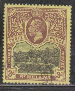 ST HELENA Scott # 66 Used - King George V & Government House