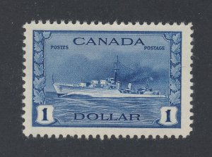 Canada $1.00 stamp #262-$1.00 Destroyer MH VF Guide Value = $80.00