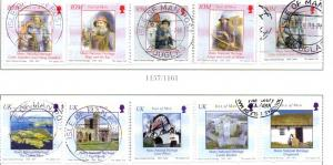 Isle of Man  Sc 1050a-1e 2004 Man History stamp set used