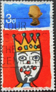 Great Britain 1966 QEII Christmas 3d with missing T SG 713c used