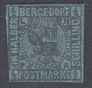 GERMANY BERGEDORF  An old forgery of a classic stamp........................C147