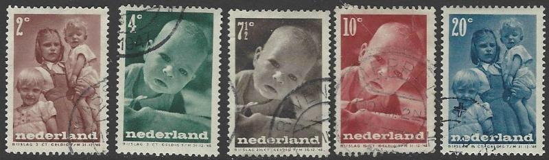 Netherlands #B180-B184 Used Full Set of 5 Semi-postals (U4)