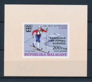 [55770] Madagascar 1976 Olympic games Skiing Overprint MNH Sheet