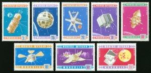 Mongolia 1966 MNH Stamps Scott 439-446 Space Exploration