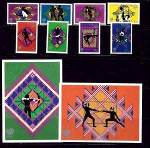 Bhutan 655-64 MNH 1989 Olympics