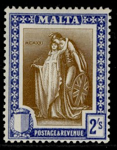 MALTA GV SG135, 2s brown & blue, LH MINT. Cat £14.