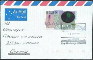 AUSTRALIA 1995 cover to Germany - nice franking - Sydney Pictorial pmk.....14703