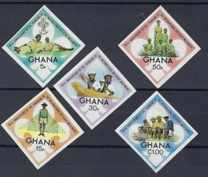 1972 Ghana Boy Scouts 65th anniversary diamond IMPERF MNH