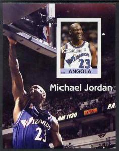Angola 2002 Michael Jordan #1 imperf souvenir sheet unmou...