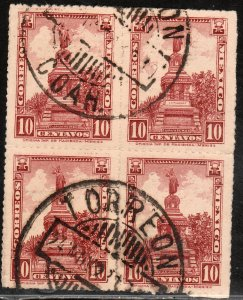 MEXICO 639, 10¢ Block of Four. USED. F-VF. (590)
