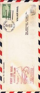 1940, 1st Flt., Pan American Clipper, Canton-New Zealand (S18101)