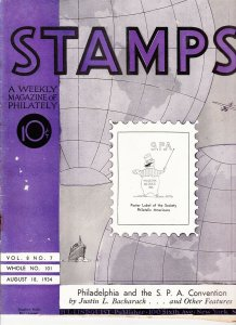 Stamps Weekly Magazine of Philately August 18, 1934 Stamp Collecting Magazine