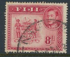 Fiji SG 261c  Used  perf 14 feint tone shades on reverse