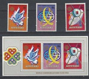 Aitutaki 312-4a MNH World Communications Year