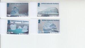 2019 British Antarctic Territory Icebergs  (4) (Scott NA) MNH
