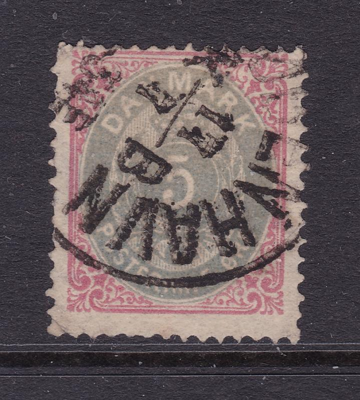 Denmark an old 5 ore posthorn used