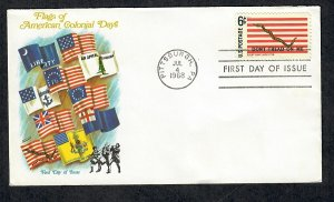 1354 First Navy Jack Unaddressed Fleetwood FDC