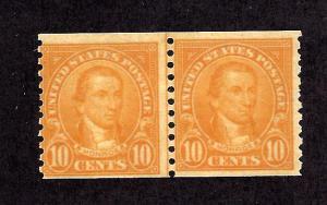 603 Mint,OG,NH... Line Pair... SCV $50.00