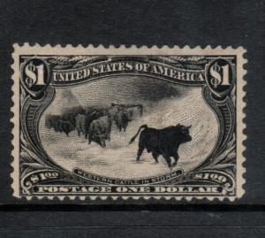 USA #292 Mint Fine Full Original Gum (Bit Glazed From Crystal Mount)