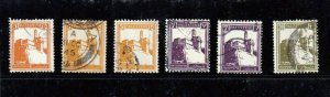 Lot of 6 Palestine (British Mandate) Stamps Issued 1927-32. SG 93-105