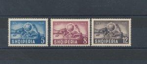 1950 Albania - Squiperia - 75° Anniversary Upu, N° 482/484 , MNH