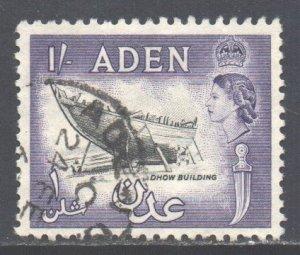 Aden Scott 73 - SG84, 1964 St Edward's Crown 1/- used