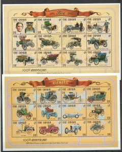 PK324 Gambia Transport Cars 100TH Jubiläum 1893 Henry Ford 2SH MNH Briefmarken
