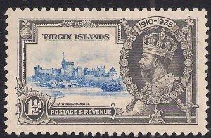 Virgin Islands 1935 KGV 1 1/2d Silver Jubilee MM SG 104 ( L952 )