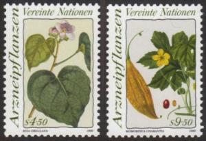 U.N. Vienna #101-02 MNH plants