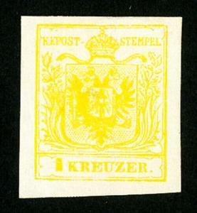 Austria Stamps # 1 Jumbo Fully OG LH Scott Value $1,650.00