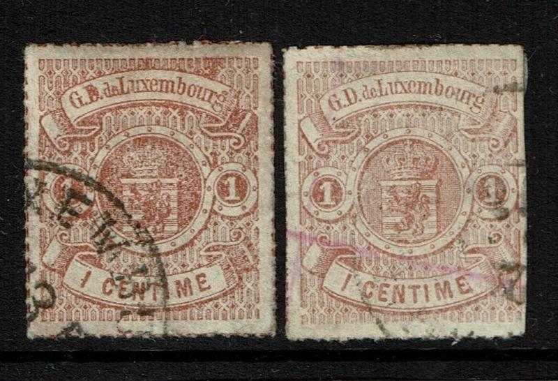 Luxembourg SC# 17 and 18, Used - Lot 040917