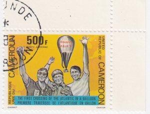 Cameroon, Sc C285, CTO-NH, 1983, Baloon Crossing Atlantic