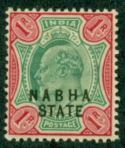 India Nabha #36  Mint VF H   Scott $12.00