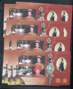 Papua New Guinea PNG 2002 Royalty QE MNH Sheet x 20(PAP 96)