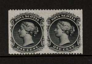Nova Scotia #8c Very Fine Mint Imperf Pair Full OG Hinged **With Certificate**