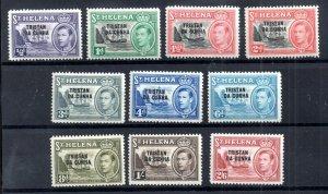 Tristan Da Cunha KGVI 1952 mint LHM set to 2s 6d SG1-10 WS18503