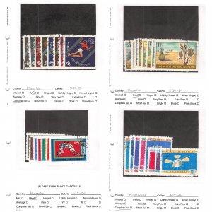 Lot of 223 Mongolia Used Stamps Scott Range 323 - C125 #145439 X R
