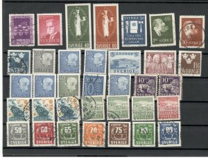 SWEDEN -NICE SELECTION MNH/USED STAMPS-(1)