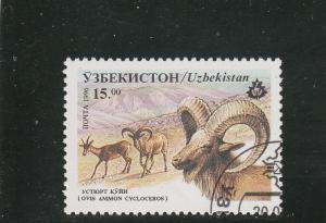 Uzbekistan  Scott#  109  CTO  (1996 Sheep)