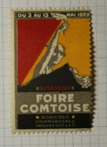 French Fair Expo 1929  WW Exposition Poster Stamp Ads
