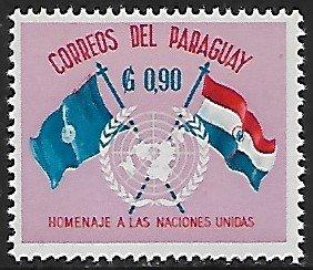 Paraguay # 571 - UN & Paraguay Flags - MNH  -{BRN2}