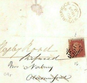 GB WORCS Superb SG.21 Cover STOURBRIDGE *Refused* 1855 RETURNED LETTER MS3558
