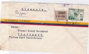 ecuador clipper  airmail  stamps  cover ref r14705