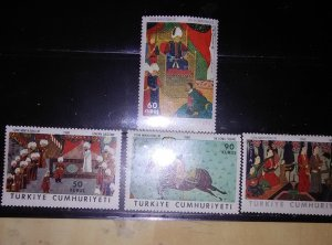 Turkey 1967 Art Minatures Scott #1763-6*nh cv 7.15