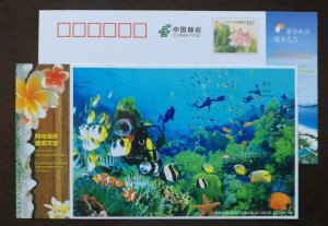 Underwater scuba diving,coral reef,fish,CN12 hainan island holiday paradise PSC