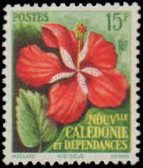 New Caledonia #304-305, Complete Set(2), 1958, Flowers, Hinged